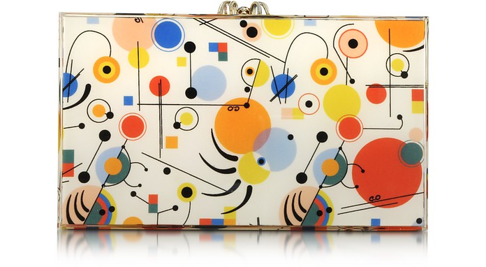 Kandinsky Printed Pandora Clutch - Charlotte Olympia