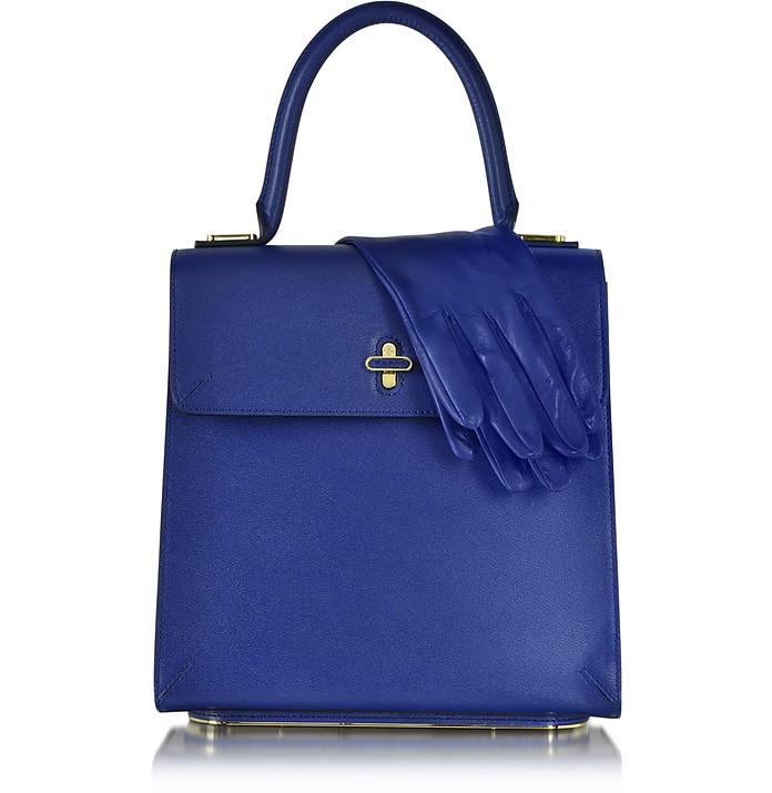Bogart Cobalt Blue Leather Handbag - Charlotte Olympia