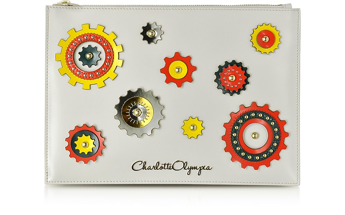 Factory Off White Leather Pouch - Charlotte Olympia