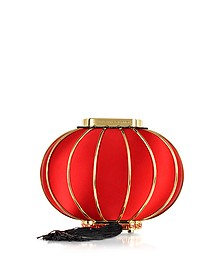 Chinese Red Spherical Lantern Bag with Tassel & Chain