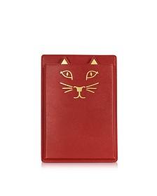 Feline Grained Leather iPad Mini Case