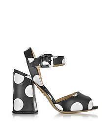 Emma Black Polka Dot Print Leather Sandal - Charlotte Olympia