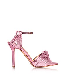 Broadway Party Pink Metallic Nappa Sandal - Charlotte Olympia