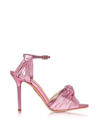 Broadway Party Pink Metallic Nappa Sandal - Charlotte Olympia