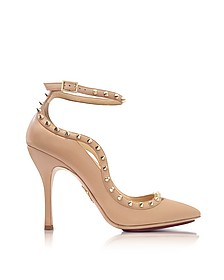 Pimlico Nude Leather Ankle Strap Pump - Charlotte Olympia
