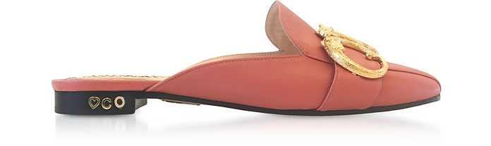 Pretty Pink Leather Mules - Charlotte Olympia