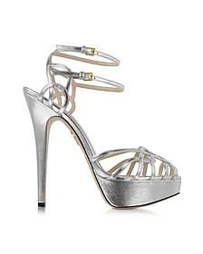 Ursula Silver Metallic Platform Sandal
