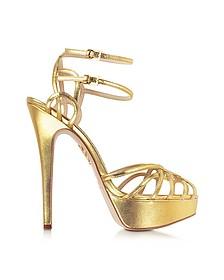 Ursula Gold Metallic Platform Sandal