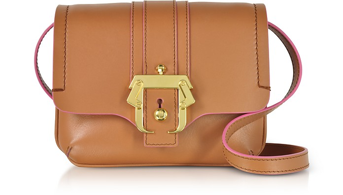 Pecan Brown Leather Gigi Crossbody Bag - Paula Cademartori
