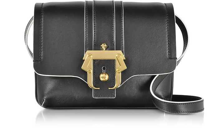 Black Leather Gigi Crossbody Bag - Paula Cademartori