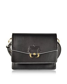 Black Leather Twiggy Shoulder Bag - Paula Cademartori