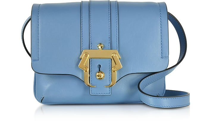 Lichen Blue Leather Gigi Crossbody Bag - Paula Cademartori