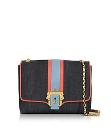 Alice Boho Indigo Denim Shoulder Bag - Paula Cademartori