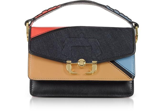 Grenadine Red Leather and Denim Twi Twi Boho Crossbody Bag Paula Cademartori PwqZXn