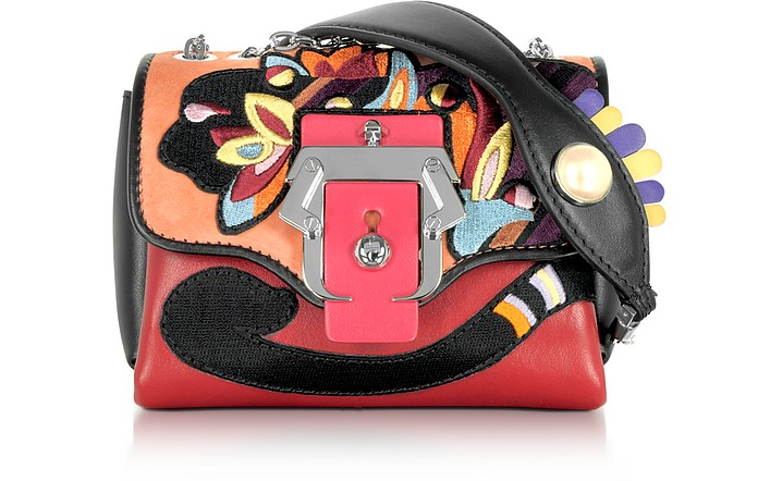 Kate Multicolor Leather Crossbody Bag W/Pearl - Paula Cademartori