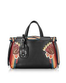 Linda Black Leather Shoulder Bag - Paula Cademartori