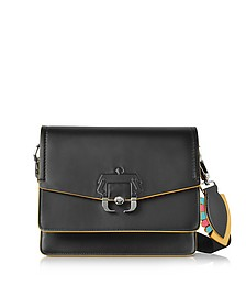 Twiggy Black Leather Shoulder Bag - Paula Cademartori