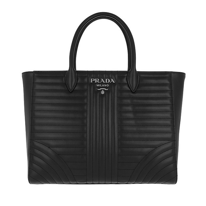 Diagramme Tote Quilted Leather Nero 2 - Prada