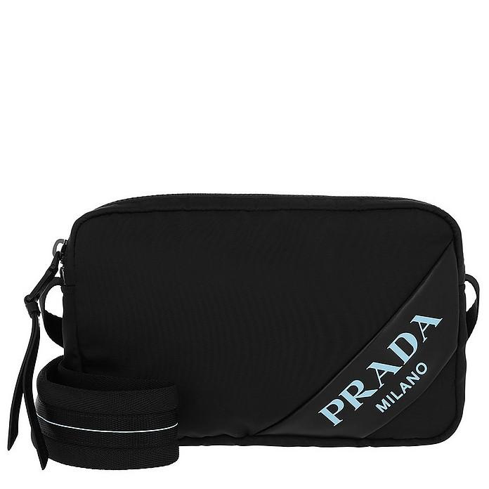 b830238ec2dc Prada Mirage Shoulder Bag Nylon Black at FORZIERI