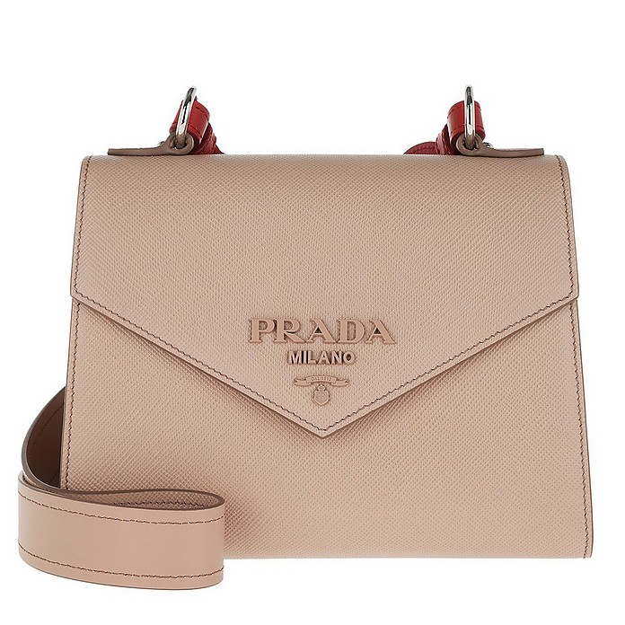 pick up finest selection well known Prada Monochrome Saffiano Leather Bag Powder Pink / Fiery Red