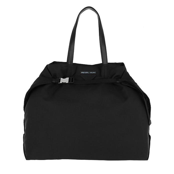 Etichetta Tote Bag Nylon Black - Prada