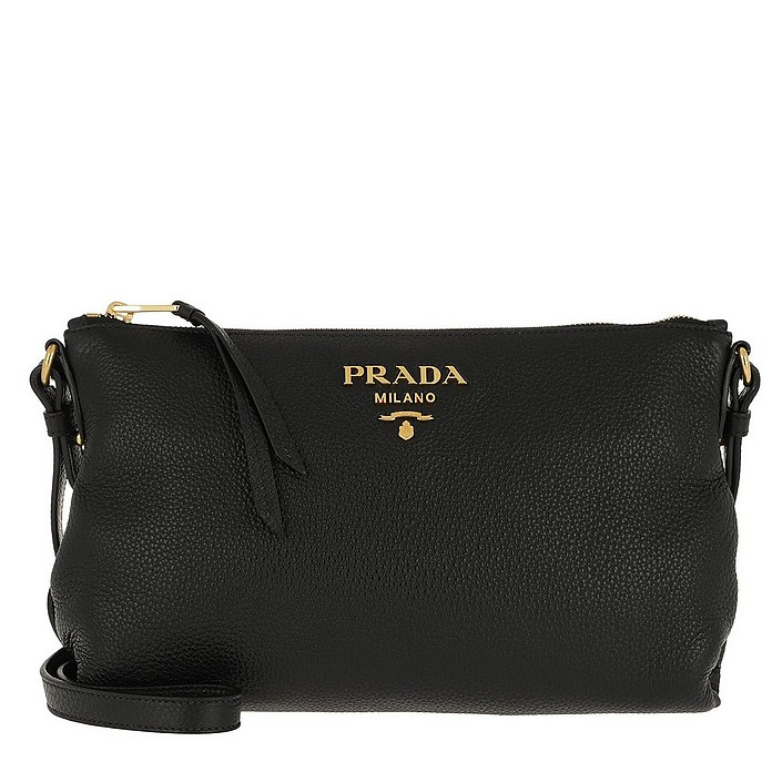 Bandoliera Crossbody Bag Calf Leather Black - Prada