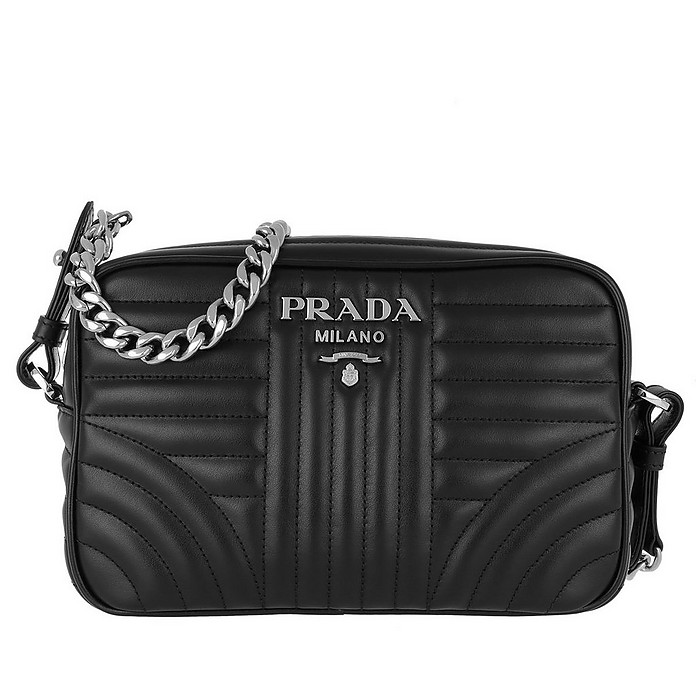 Soft Calf Diagramme Crossbody Nero - Prada