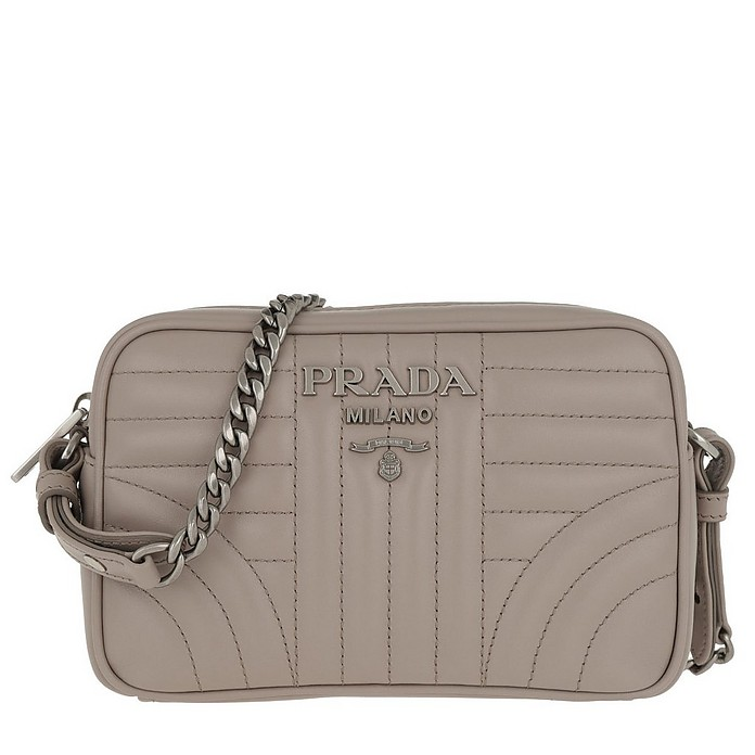 5e2cf28c78 Prada Diagramme Crossbody Bag Leather Pomice 2 at FORZIERI