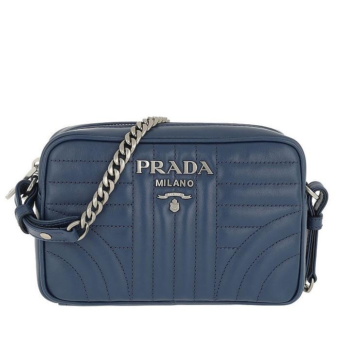 Diagramme Crossbody Bag Leather Bluette 2 - Prada / プラダ