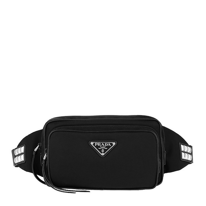 Stud Embellished Belt Bag Black - Prada