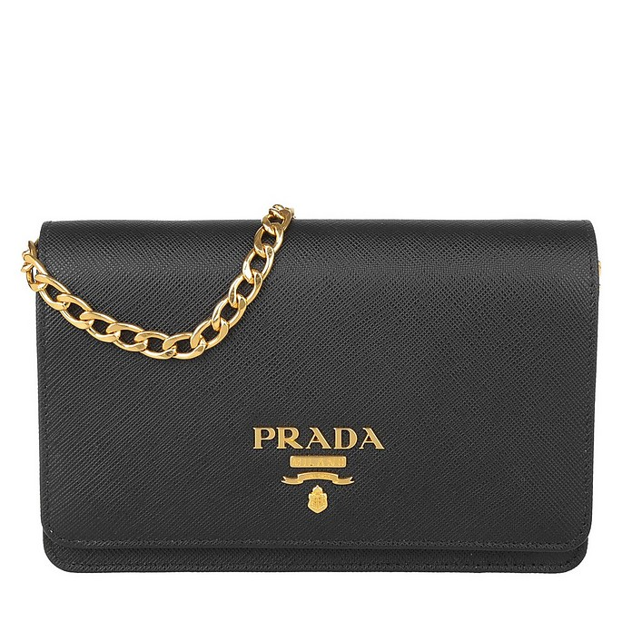 Shoulder Bag Saffiano Lux Nero - Prada