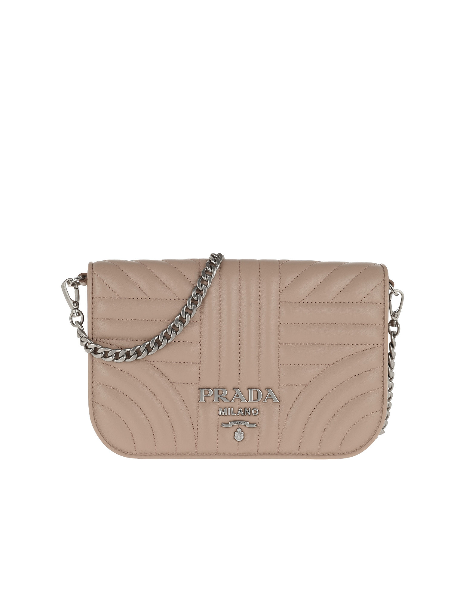 d93d3d9069176a Prada Quilted Diagramme Nappa Leather Bag Cipria In Beige ...