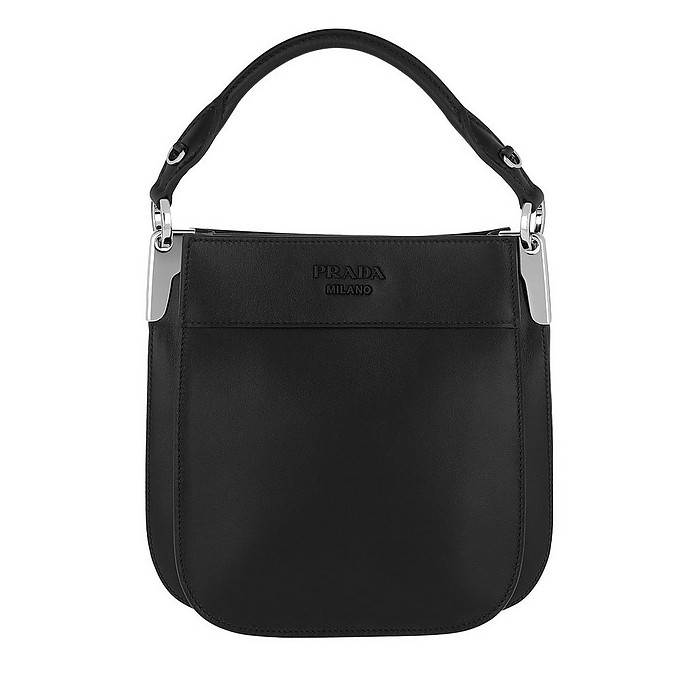 Margit Leather Bag Small Black - Prada