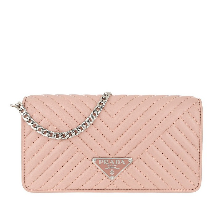 Mini Crossbody Bag Quilted Leather Orchidea - Prada