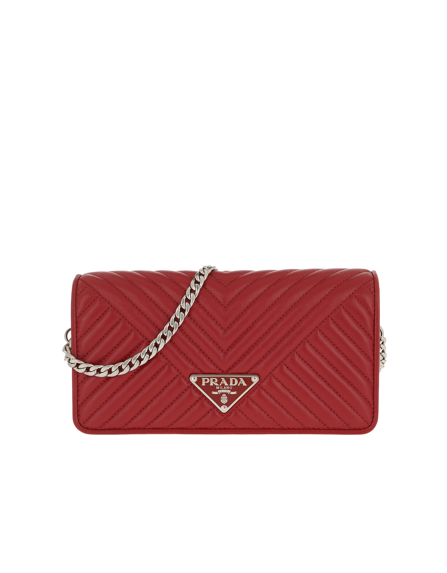 c0a0e9b7c57b89 Prada Mini Crossbody Bag Quilted Leather Red | ModeSens