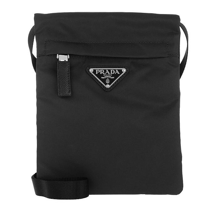 Technial Fabric Shoulder Bag Black - Prada
