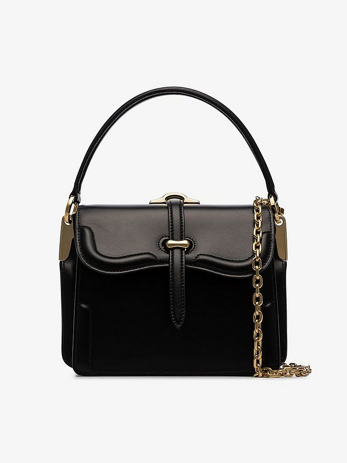 Prada Totes Black Belle chain leather tote bag