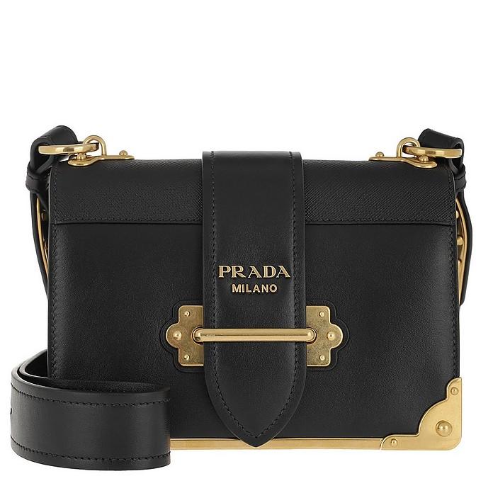ac277697a910 Prada Cahier Crossbody Bag Black at FORZIERI UK