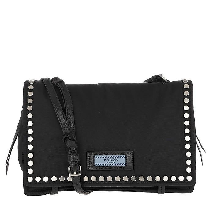 15afe40cdeae Prada Etiquette Shoulder Bag Nylon Nero/Astrale at FORZIERI