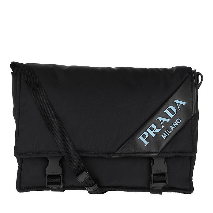 Prada Logo Crossbody Bag Nylon Black - Prada