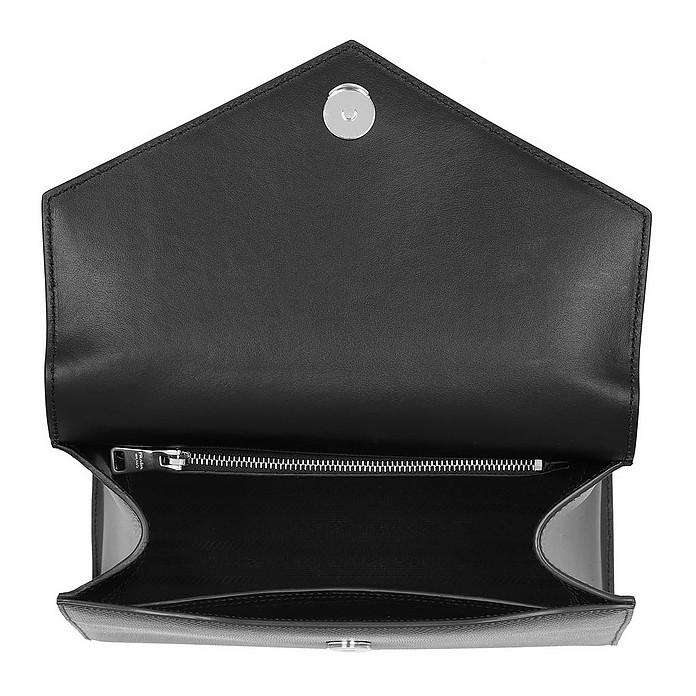24c32bb5d0 Prada Monochrome Saffiano Leather Bag Black/Papaya