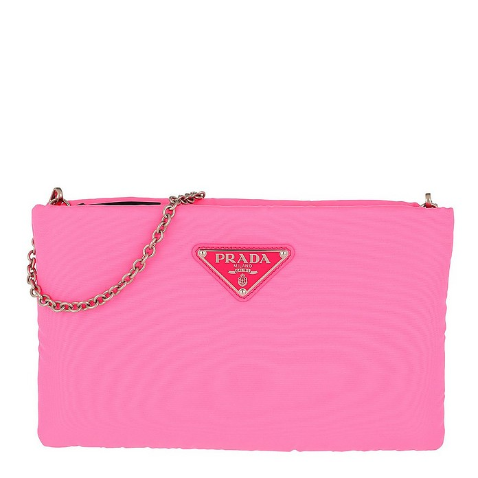 top style biggest discount high quality Clutch Padded Nylon Neon Pink