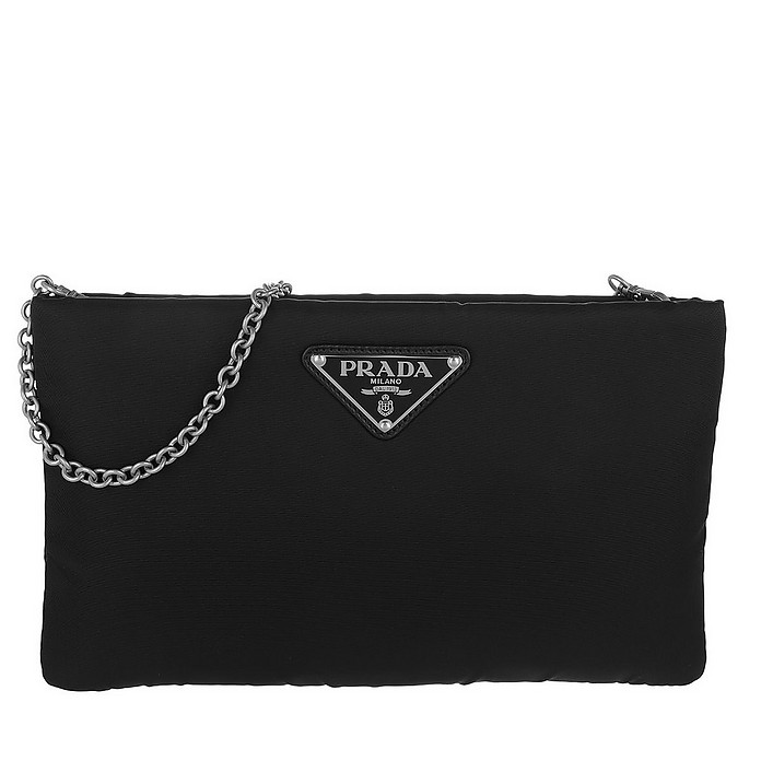Clutch Padded Nylon Black - Prada