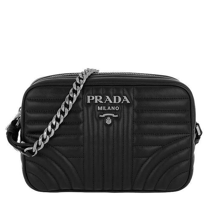 5af49317918a1b Facebook · Twitter · Pinterest · Share on Tumblr. Diagramme Large Camera  Bag Black2 - Prada
