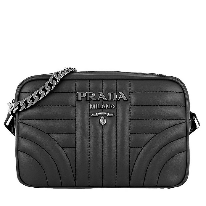 c4a09b92a Prada Diagramme Camera Bag Leather Black at FORZIERI