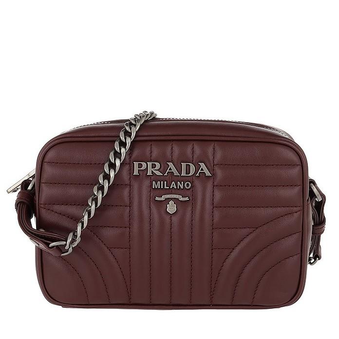 5a33512d04 Prada Diagramme Camera Bag Leather Granato 3 at FORZIERI Canada