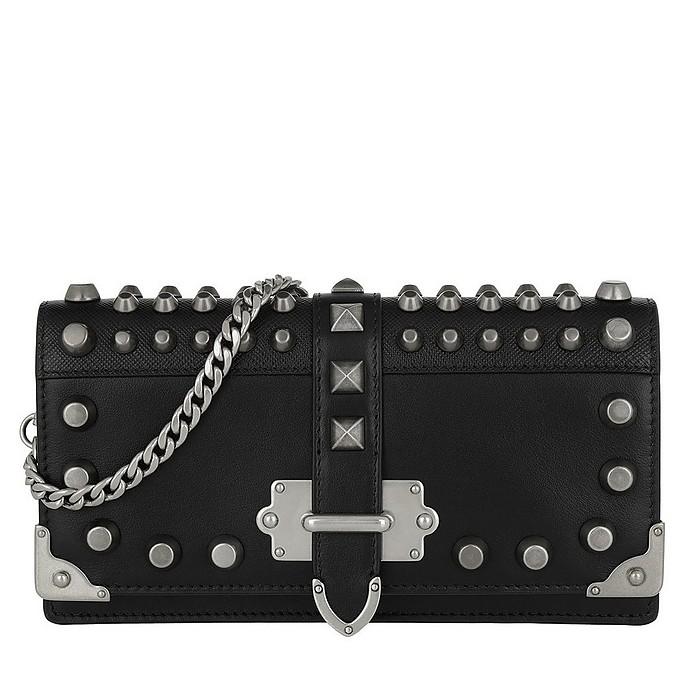 Prada Cahier Mini Bag Saffiano Leather Black at FORZIERI 732a7a284f814