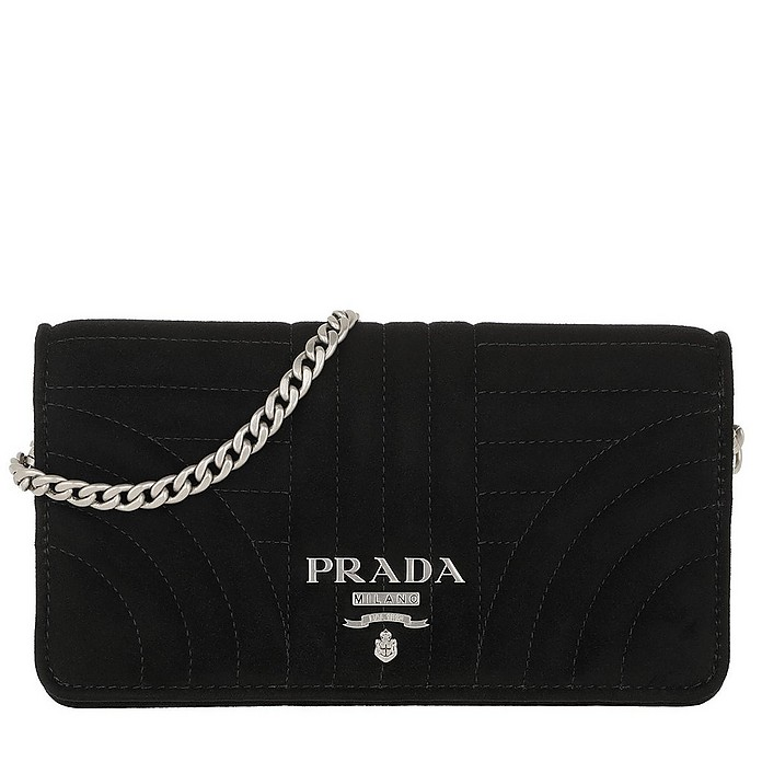 c532940e114d Prada Mini Crossbody Bag Quilted Leather Black at FORZIERI