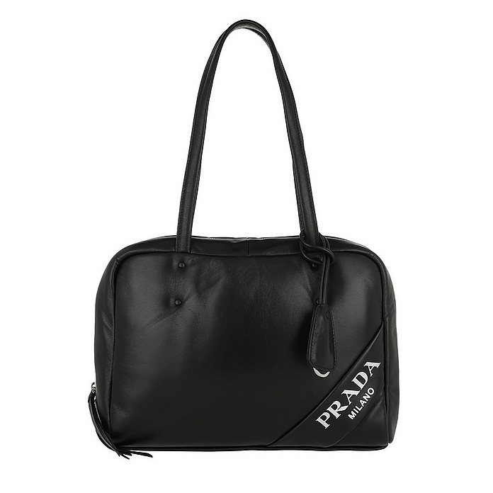 Padded Tote Bag Medium Nero/Cobalto - Prada / プラダ