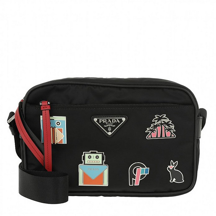 Nylon Crossbody Bag Robot Nero - Prada